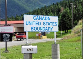 Montana / Canada USA Border